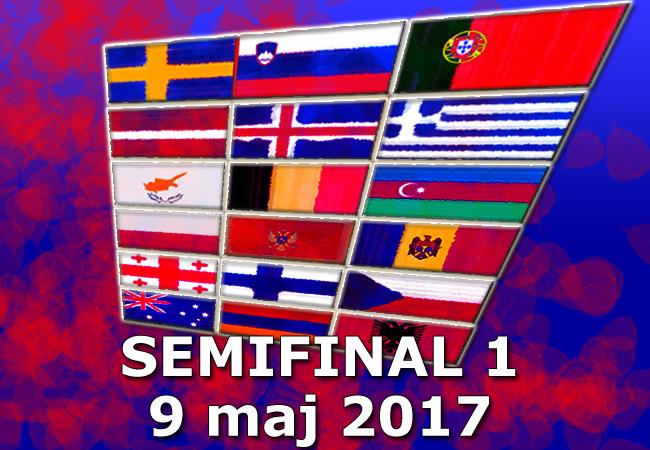Inför Eurovision 2017: Poäng i Semifinal 1