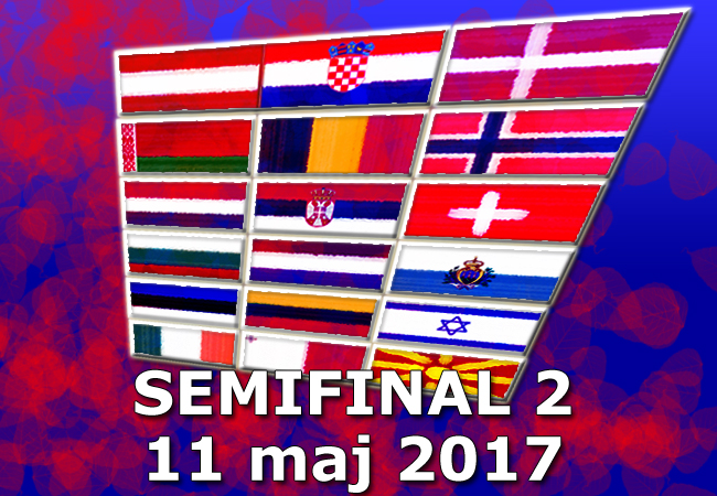 Inför Eurovision 2017: Poäng i Semifinal 2