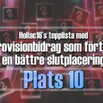 Hollac16's topplista: 30 Eurovisionbidrag som förtjänade en bättre slutplacering – plats 10