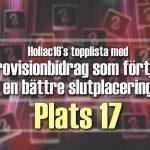 Hollac16's topplista: 30 Eurovisionbidrag som förtjänade en bättre slutplacering – plats 17