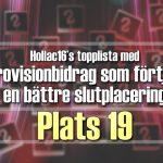 Hollac16's topplista: 30 Eurovisionbidrag som förtjänade en bättre slutplacering – plats 19