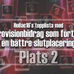 Hollac16's topplista: 30 Eurovisionbidrag som förtjänade en bättre slutplacering – plats 2