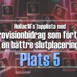 Hollac16's topplista: 30 Eurovisionbidrag som förtjänade en bättre slutplacering – plats 5