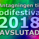 Antagningen till Melodifestivalen 2018 är avslutad