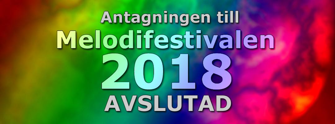 2 771 bidrag skickades in till Melodifestivalen 2018
