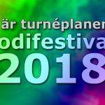 Här är turnéplanen för Melodifestivalen 2018