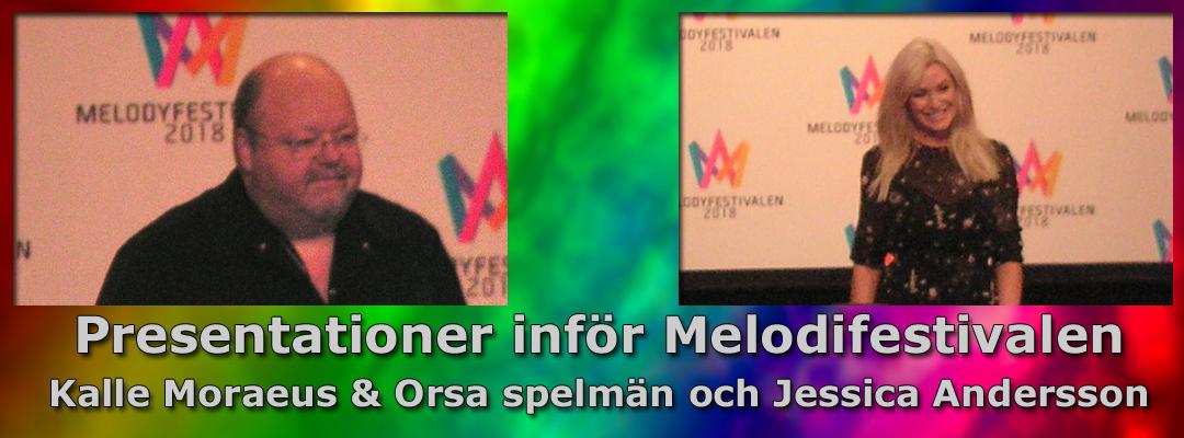 Inför Melodifestivalen 2018: Vi presenterar Kalle Moraeus & Orsa spelmän och Jessica Andersson