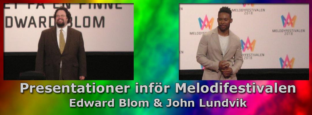 Inför Melodifestivalen 2018: Vi presenterar Edward Blom & John Lundvik