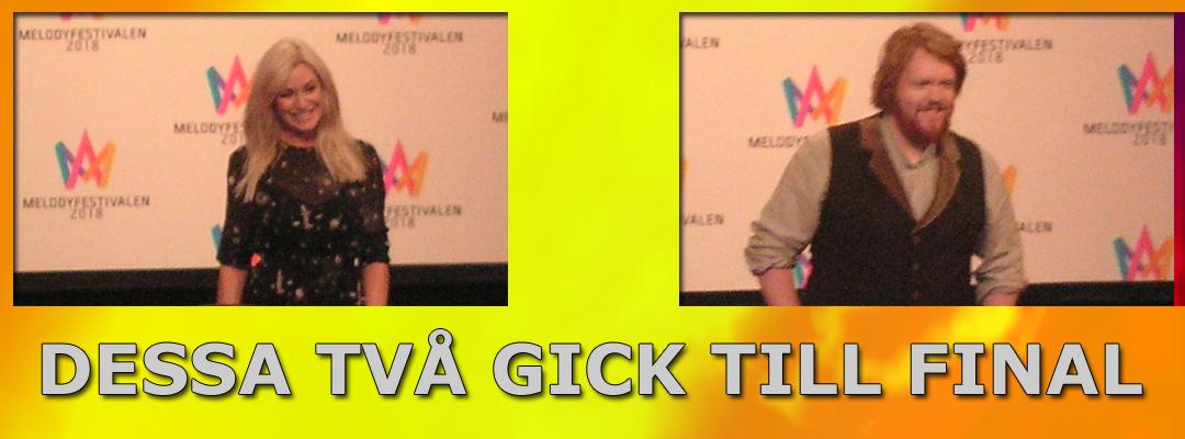Jessica Andersson & Martin Almgren gick till finalen i Melodifestivalen 2018