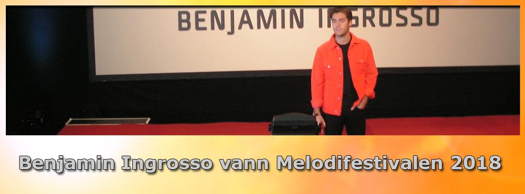 Benjamin Ingrosso vann Melodifestivalen 2018