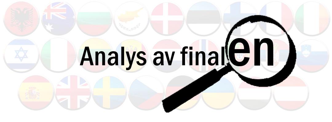En liten analys efter Eurovisionfinalen 2018