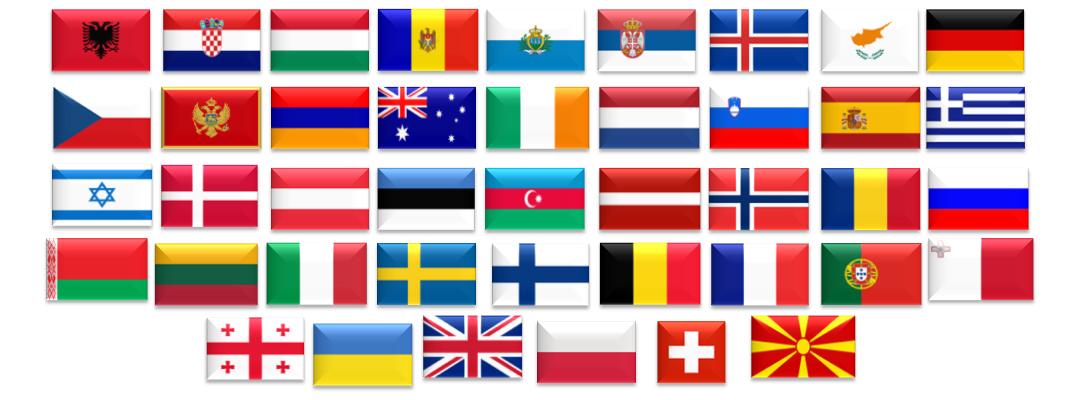 42 länder deltar i Eurovision 2019