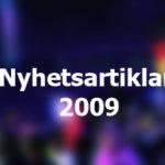 Nyhetsarkiv 2009