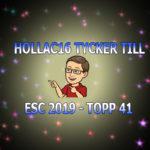 Här är Hollac16s topp 41 inför Eurovision 2019