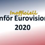 """Panelens """"Inför Eurovision 2020"""""""