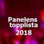 Panelens topplista - Eurovision 2018: vecka 13