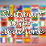 Eurovision 2020: Slutspurt inför deadline (del 1)