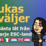 Lukas väljer: Bästa låt från varje ESC-land - del 2